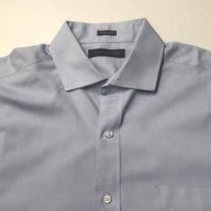 TOMMY HILFIGER Mens Large Blue Cotton Oxford Shirt